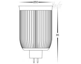 Havit 12v COB LED 10w MR16 Lamp