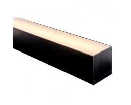 Havit HV9693-8090-BLK 3 Metre Black Aluminium Large Deep Square LED Profile with Opal Diffuser