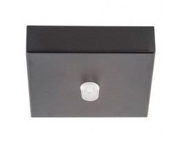 Havit HV9705-9025 90mm Surface Mounted Black Square Canopy