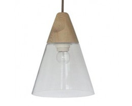 Fiorentino INSTA196 Glass And Wood Pendant