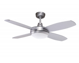 Martec Lifestyle Mini Ceiling Fans in Brushed Aluminium with Halogen Light