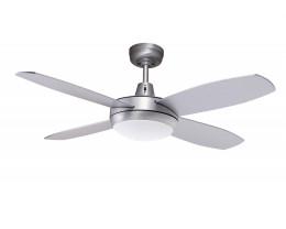 "Martec Lifestyle Mini 42"" 1067mm Brushed Aluminium Ceiling Fan with Halogen Light"