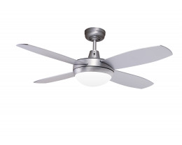 "Martec Lifestyle Mini 42"" 1067mm Brushed Aluminium Ceiling Fan with 2 x E27 Light"