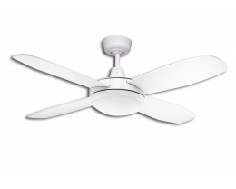 "Martec Lifestyle Mini 42"" 1067mm White Ceiling Fan with Dimmable 3000K 24W LED Light"