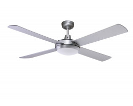 """Martec Lifestyle 52"""" 1300mm Brushed Aluminium Ceiling Fan with Halogen Light"""