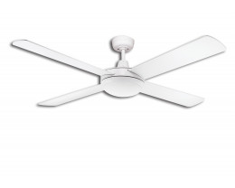 Martec Lifestyle 1300mm White Ceiling Fans with Halogen Light