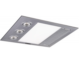 Martec Linear Mini Silver 3 In 1 Bathroom Heat Light Exhaust Fan