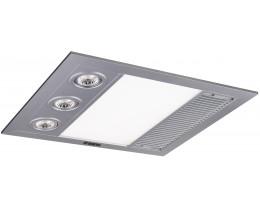 Martec Linear Mini Silver 3-In-1 Bathroom Heat Light Exhaust Fan