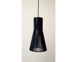 Fiorentino Lucca Wood Veneer Black Pendant Light