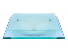V & M Luka Glass 2 Tier 2 Light Oyster Lights
