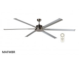 "Martec Albatross DC White 1800mm 72"" 6 Blade Industrial Style Ceiling Fan with Remote"
