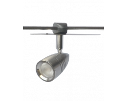 Martec Mako LED 4 light 3000K Brushed Nickel Adjustable S Bow Rail Spotlight