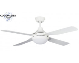 "Martec Coolmaster Discovery 52"" (1300mm) ABS Ceiling Fan with 15W CCT LED Light"