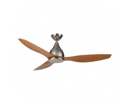 Martec Vantage DC Brushed Nickel 3 Bamboo Colour Blades Ceiling Fan and Remote