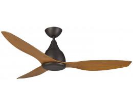 Martec Vantage DC Matt Black 3 Bamboo Colour Blades Ceiling Fan and Remote