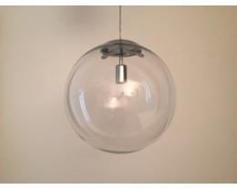 Fiorentino Nocati 1L Clear Glass Pendant Chrome Suspension