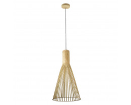 V & M Novo Scandinavian Look Small Natural Wood Pendant