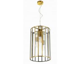Telbix Pratt 3 Light Antique Brass Pendant Light
