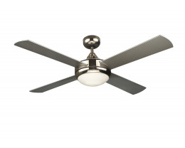 """Martec Primo Brushed Nickel 1200mm 48"""" Ceiling Fan with Light"""