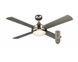 Martec Primo Brushed Nickel 48 Inch Ceiling Fan with Light & Remote