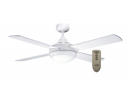 Martec Primo White 48 Inc Ceiling Fan with Light & Remote