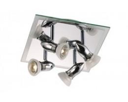Fiorentino Queenie 4P Chrome Glass Adjustable Track Lights