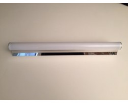 Fiorentino Riello-56 8W LED S/Steel Vanity Light acrylic diffuser