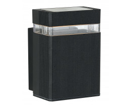 Telbix Roland Black Single Fixed Exterior Wall Light