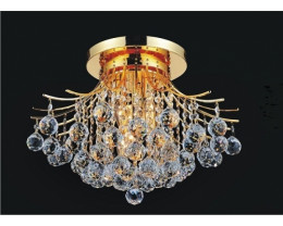 Fiorentino Rosa 6 Light Close to Ceiling Chandeliers