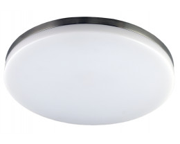 Martec Razor 28W LED 3000K Brushed Nickel Dimmable Round Oyster Lights
