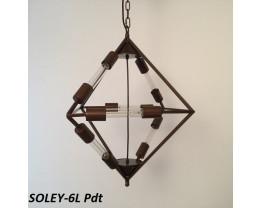Fiorentino Soley 6 Lights Brown Diamond Shape Pendant