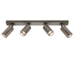 Cougar Stockholm Anodised Aluminium 4 Lights Exterior LED Rail Light