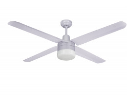 """Martec Trisera White 1300mm 52"""" Interchangable 3 or 4 Blade Ceiling Fan with Clipper Light"""