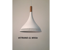 Fiorentino Vetrano 1 Light Wood Aluminium Pendant