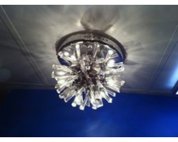 Fiorentino 12V 9 Lights Chrome & Crystal Close To Ceiling