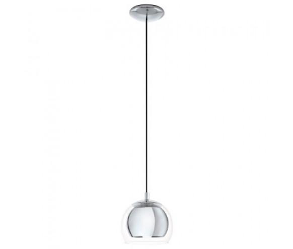 Rocamar Copper And Glass Single Pendant: Eglo Rocamar 1 Light Round Glass & Metal Pendant Light
