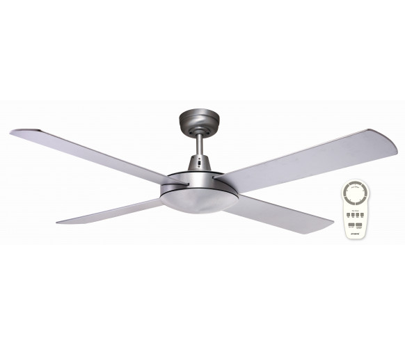 "Style Of Martec Lifestyle DC Brushed Aluminium 1300mm 52"" Ceiling Fan with Remote For Your Plan - Cool Ceiling Fans without Lights Photo"