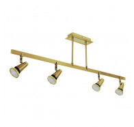 V & M Sepia 4 Light Pendant Satin Brass