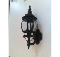 Fiorentino Peruh-(8101) Black 1 Light Exterior Coach Wall Light