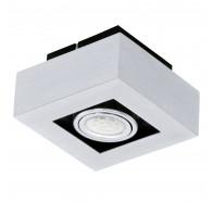 Eglo Loke LED 1 Light Brushed Aluminium Gimble Surface Mounted Ceiling Lights