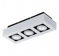 Eglo Loke 1 LED 3 Light Brushed Aluminium Gimble Surface Mounted Ceiling Light