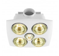 Eglo Vesuvius 4 DC Bathroom 3-in-1 Exhaust Fan, Heater & Light
