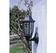 Fiorentino Potter-Black 1 Light Exterior Coach Wall Light