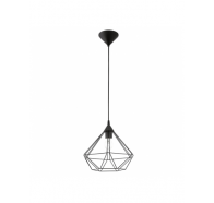 Eglo Tarbes Large 1 Light Black Cage Pendant Light