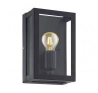 Eglo Alamonte 1 Black 1 Light Exterior Wall Light