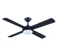 "Hunter Pacific Intercept 2 52"" (1320mm) 4 Timber Blade Ceiling Fan with 24W Dimmable CCT LED Light"