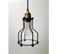 1 Light Black Brass Pendant
