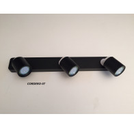 Fiorentino Cordero 3 Light Black & White Led Adjustable Wall Bracket