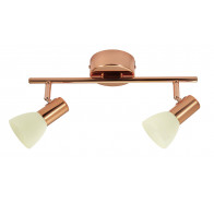 Eglo Glossy 2 Copper 2 Light 5W LED Spotlight