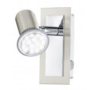 Eglo Rottelo LED 1 Light Chrome & Brushed Nickel Adjustable Spotlights